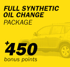 Full Synthetic Oil Change Package