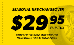 Seasonal Tire Changeover: $29.95