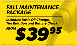 Fall Maintenance Package: $39.95