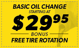 Basic Oil Change $29.95 with Free Tire Rotation