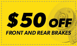 $50 off Front & Rear Brakes itemprop=
