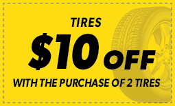 $10 Off with purchase of two tires