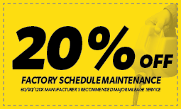 20% off Factory Scheduled Maintenance