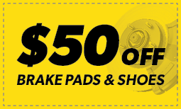 $50 Off Brake Pads & Shoes itemprop=