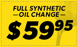 Full Synthetic Oil Change: $59.95