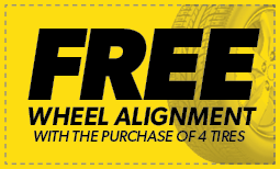 Free Wheel Alignment w/purchase of four tires