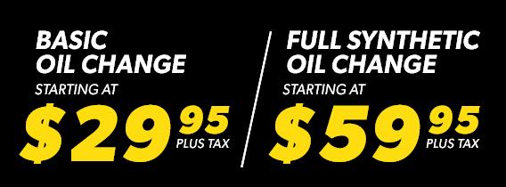 Basic Oil Change or Full Synthetic Oil Change