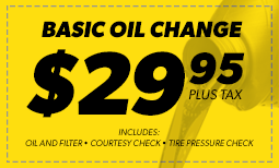 Basic Oil Change $29.95