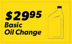 $29.95 Basic oil Change Coupon