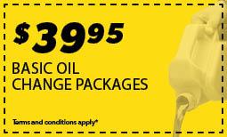 $39.95 Basic Oil Change Coupon