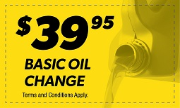 $39.95 Basic Oil Change