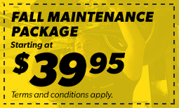 $39.95 Fall Maintenance Package