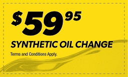 $59.95 Synthetic Oil Change Coupon