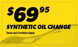 $69.95 Synthetic Oil Change Coupon