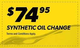 $74.95 Synthetic Oil Change