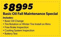 Basic Oil Fall Maintenance Special