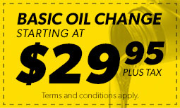$29.95 Basic Oil Change