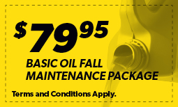 $79.95 Basic Oil Fall Maintenance Package Coupon