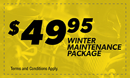$49.95 Winter Maintenance Package
