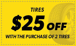 $25 off with the purchase of two tires