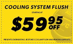 $59.95 Off Cooling System Flush