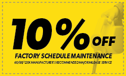 10% off Factory Scheduled Maintenance Coupon