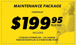 $199.95 Maintenance Package Coupon