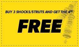 Buy 3 Shocks/Struts Get 1 Free