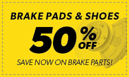 Brake Pads & Shoes 50% off