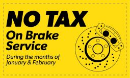 No Tax on Brake Service Coupon