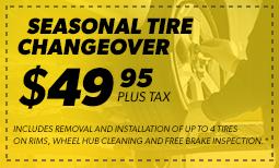 $49.95 Seasonal Tire Changeover