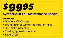 Synthetic Oil Fall Maintenance Special