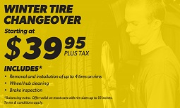 $39.95 Winter Tire Changeover