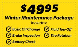 Winter Maintenance Package Coupon