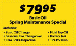 Basic Oil Spring Maintenance Special Coupon