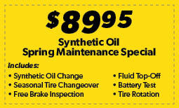 Synthetic Oil Spring Maintenance Special Coupon
