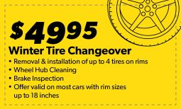$49.95 Winter Tire Changeover